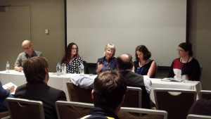 Sean Williams, Abigail Nathan, Karen Simpson Nikakas, Jo Clay and I on the self-editing panel.