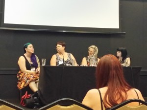 Maria Lewis, Kate Cuthbert, Karen Simpson-Nikakis, Marlee Jane Ward, Bechdel Test, Contact2016, Natcon, Australian Science-fiction convention, Earl Grey Editing.