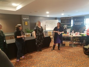 Elanor Matton-Johnson, Tansy Rayner Roberts, Tehani Wessely, Bounty, Mocklore, book launch, Conflux 12, Red Fire Monkey