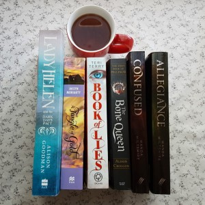 Lady Helen and the Dark Days Pact, Alison Goodman, A Tangle of Gold, Jaclyn Moriarty, Book of Lies, Teri Terry, The Bone Queen, Alison Croggon, Allegiance, Confused, Wanda Wiltshire, TBR, books and tea, tea and books, Earl Grey Editing