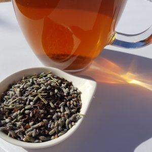 Lavender tea, Lyndock Lavender Farm, loose-leaf tea, Loose-leaf Links, Earl Grey Editing