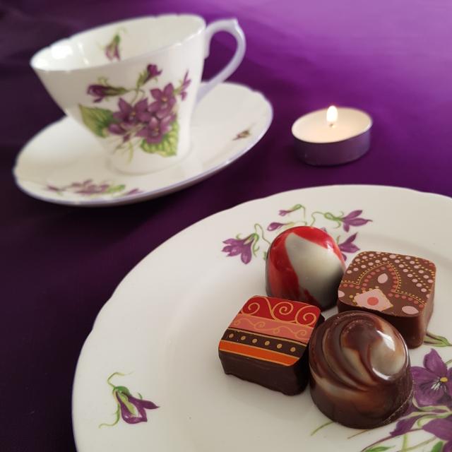Earl Grey Editing, Mornington Peninsula Chocolates, teacup, tea and chocolate