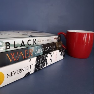 Dewey's 24-hour read-a-thon, readathon, Dewey's, Nevernight, Jay Kristoff, Waer, Meg Caddy, Black, Fleur Ferris, books and tea, tea and books