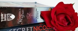 Read My Valentine, Earl Grey Editing, romance, romance reading challenge, reading challenge, books, rose, Kushiel's Dart, Jacqueline Carey, Secret Ones, Nicole Murphy, gadda, Heart's Blood, Juliet Marillier