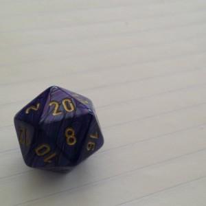 Earl Grey Editing, tabletop games for storytellers, d20, purple die