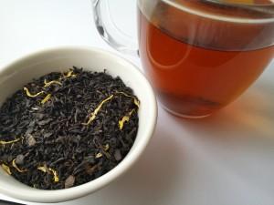 Loose-leaf Links, Earl Grey Editing, loose-leaf tea, tea, Elizabeth Fitzgerald, Apricot and Peach, Adore Tea, glass mug