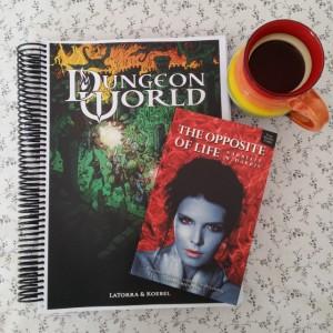 Earl Grey Editing, Mt TBR, Dungeon World, Sage LaTorra, Adam Koebel, The Opposite of Life, Narelle Harris, tea, tea and books
