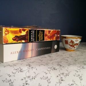 Bout of Books, Alexis Wright, Carpentaria, Ursula Le Guin, The Earthsea Quartet, tea, tea and books, Earl Grey Editing