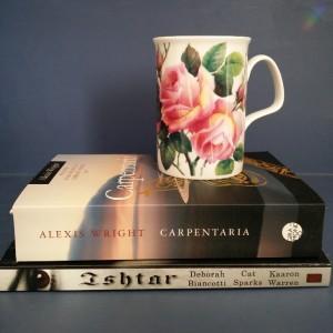 Bout of Books, Ishtar, Amanda Pillar, K.V. Taylor, Cat Sparks, Kaaron Warren, Deborah Biancotti, Alex Wright, Carpentaria, tea and books