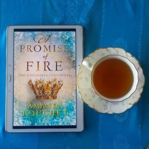 Earl Grey Editing, A Promise of Fire, Amanda Bouchet, books and tea