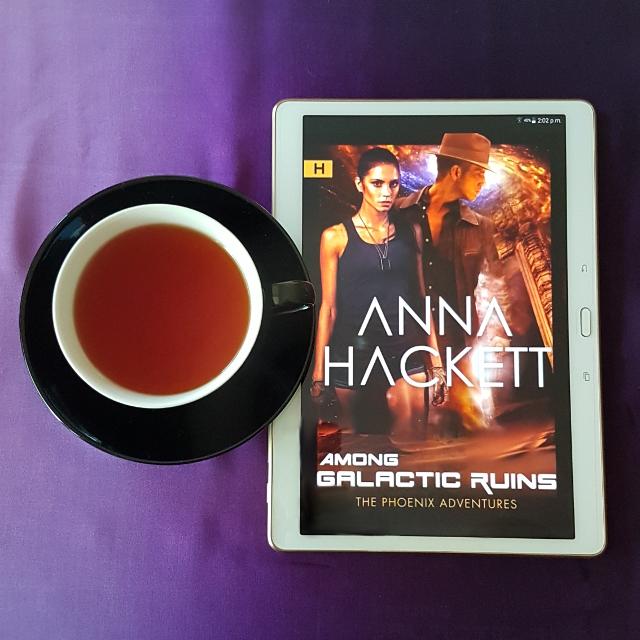 Among Galactic Ruins, Anna Hackett, Earl Grey Editing, books and tea, tea and books, sci-fi romance