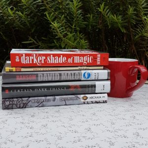 Earl Grey Editing, books and tea, tea and books, Mt TBR, A Darker Shade of Magic, V.E. Schwab, Victoria Schwab, David Malouf, Ransom, Emily Dickinson, Certain Dark Things, Silvia Moreno-Garcia, Mouse Guard, David Petersen