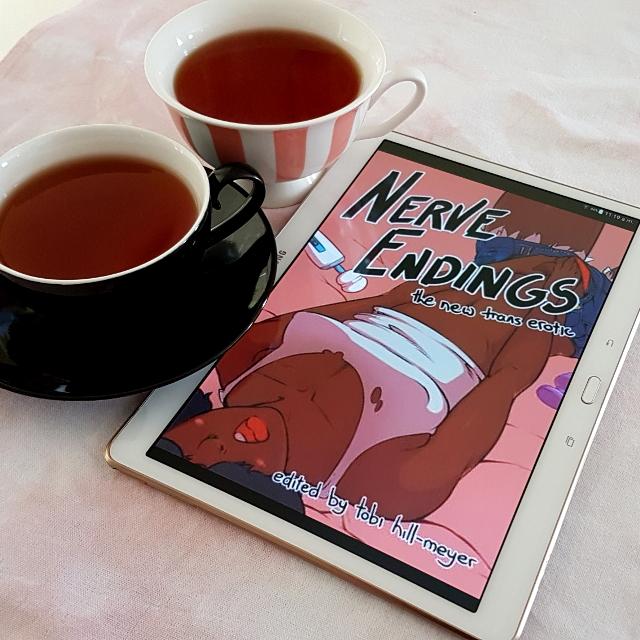 Nerve Ending, Tobi Hill-Meyer, transgender erotica, Anne Rowlands, Earl Grey Editing, books and tea, tea and books