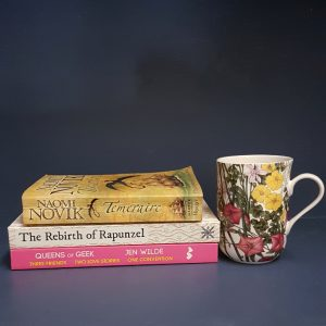 Bout of Books 19, reading challenge, Queen of Geeks, Jen Wilde, The Rebirth of Rapunzel, Kate Forsyth, Temeraire, Naomi Novik, Earl Grey Editing, tea and books, books and tea