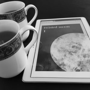 Twisted Moon magazine, erotic speculative poetry, Earl Grey Editing, books and tea, tea and books