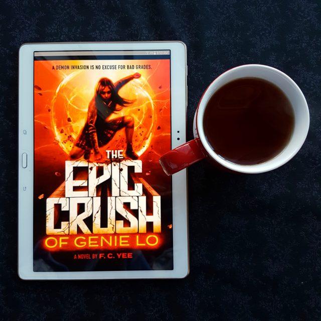 The Epic Crush of Genie Lo, F.C. Yee, Earl Grey Editing, books and tea, tea and books, superhero YA