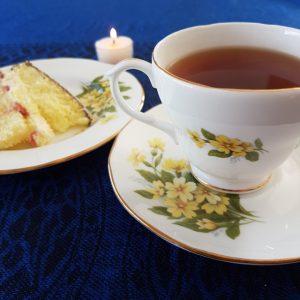 Earl Grey Editing, tea and cake, lamington cake