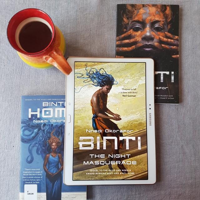 Earl Grey Editing, Binti, The Night Masquerade, Nnedi Okorafor, Tor.com, books and tea, tea and books