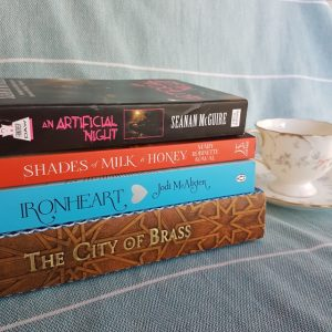 Earl Grey Editing, Mt TBR, City of Brass, S.A. Chakraborty, Ironheart, Jodi McAlister, Shades of Milk and Honey, Mary Robinette Kowal, An Artificial Night, Seanan McGuire
