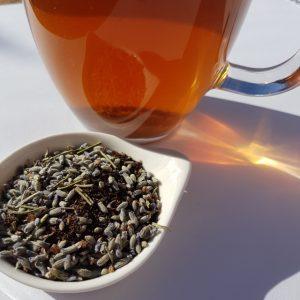 Lavender tea, Lyndock Lavender Farm, loose-leaf tea, Loose-leaf Links, Earl Grey Editing