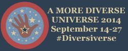 A More Diverse Universe 2014 banner