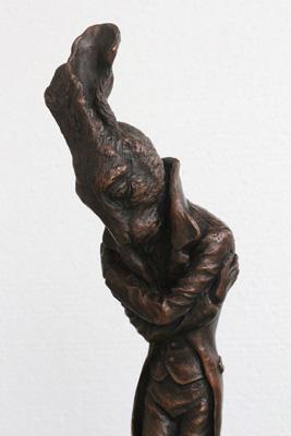 Beau, the Boulevardier of Broken Dreams, K.J. Bishop, Kirsten Bishop, bronze sculpture, rabbit, hare, 2016 snapshot, Australian Speculative Fiction snapshot